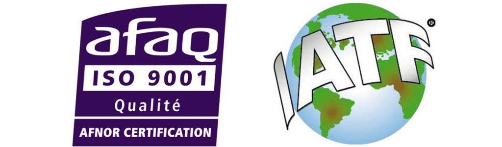 Certification IATF - ISO 9001